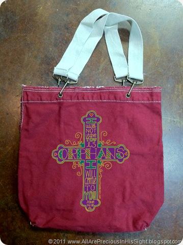 orphan bag red