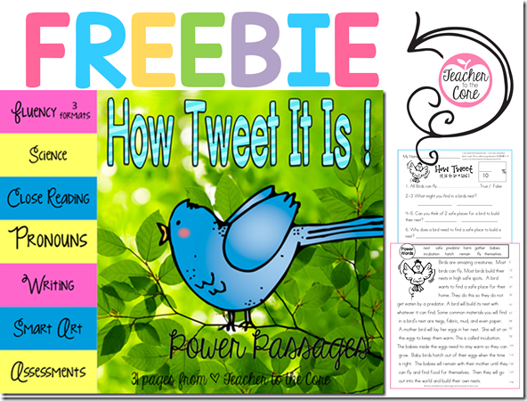 How Tweet it is- Fluency Freebie- A whole unit for free- science themed- fluency art writing and quizzes