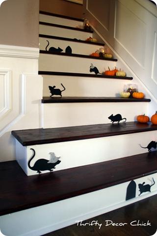 halloween mice on stairs