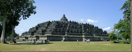 Borobudur seen from the North-West (from Wikimedia Commons)