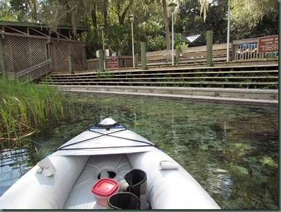 kayak launch at Rainbow Springs sp