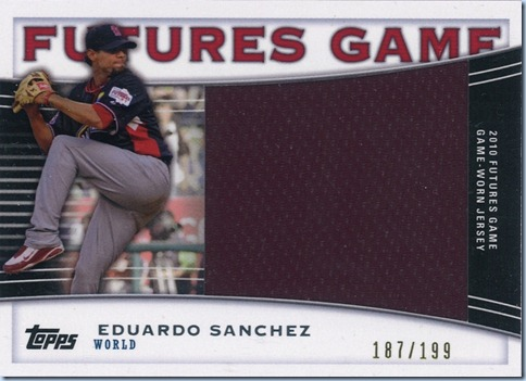 2010 Pro Debut Sanchez Futures Jersey 187 of 199