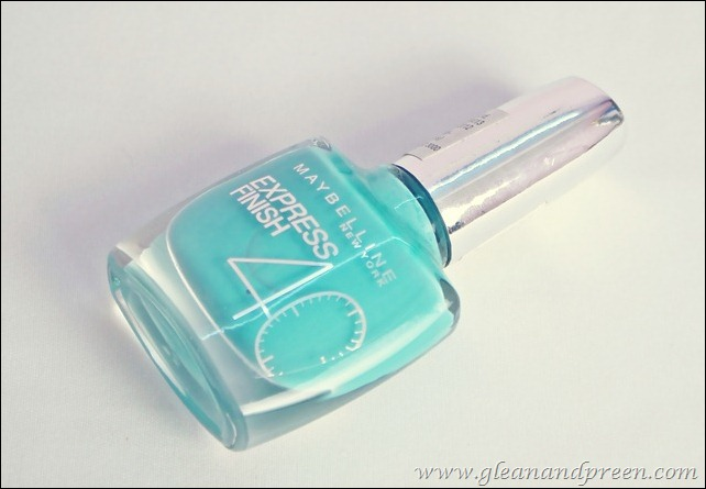 Maybelline Express Finish Nail Enamel in Turquoise Lagoon  Review