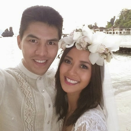 Newlyweds JC Intal and Bianca Gonzalez