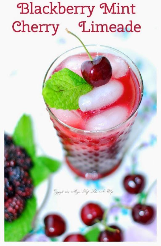 Blackberry Mint Cherry Limeade pinterest