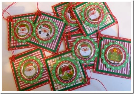 Bright Christmas Tags, Foil Christmas Stickers