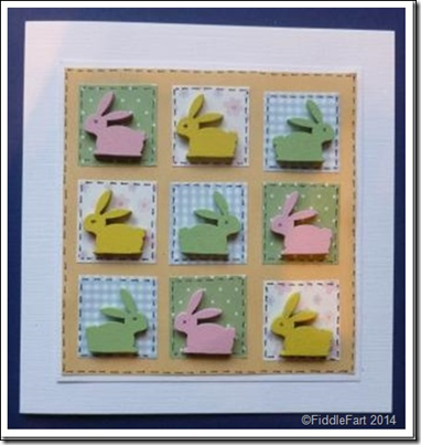 9 square Easter Bunny Card