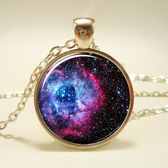 Rosette Nebula Necklace from Rainnua