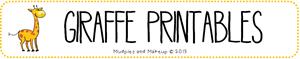Giraffe Preschool Printables FREE