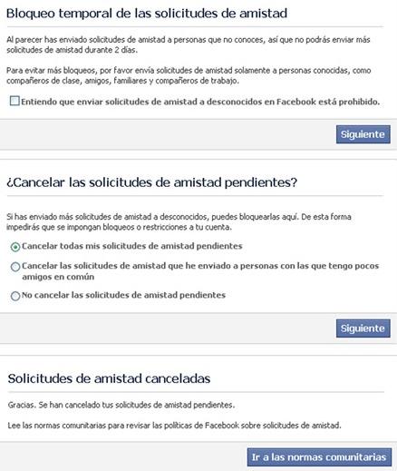 Por qué no puedo agregar amigos en Facebook