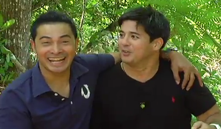 Aga Muhlach and Cesar Montano in Pinoy Explorer
