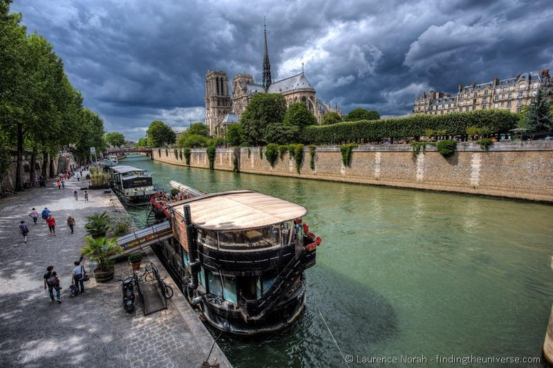Paris Notre Dame and Seine