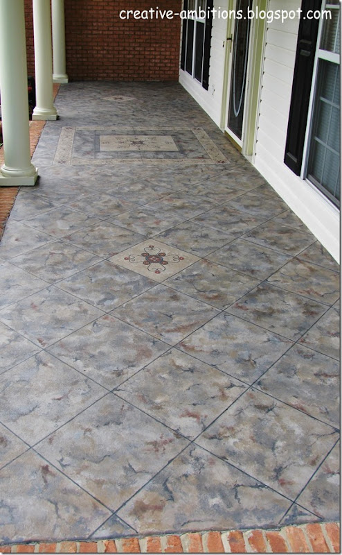 Faux Tile Front Porch (c)