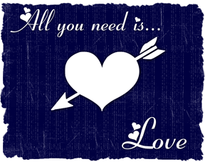all you need is love red navy