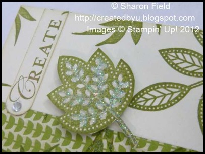 snip out stamped image and add some dazzling diamonds too