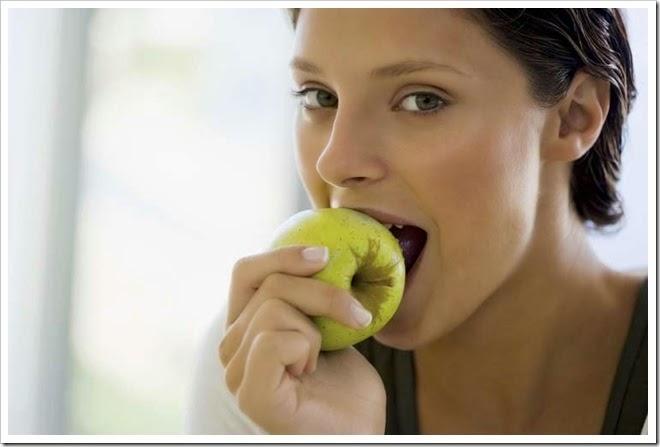coma uma maçã