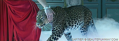 L'Odyssée de Cartier Panther Jewellery French luxury Shalom Harlow sensual spirit Cartier woman elegant passionate