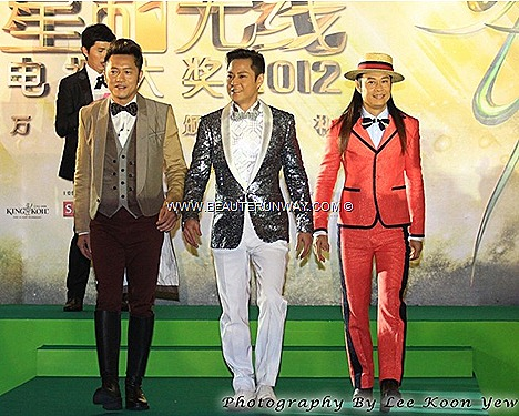 STARHUB TVB AWARDS 2012 Grasshopper Concert Edmond Chi Wai So Remus Yat Kit Choy Calvin Yat Chi Choy HONG KONG CELEBRITIES WINNERS  Grasshopper All Star Glam Exam My cantopop band Favourite TVB Variety spectacular singing costumes