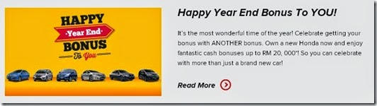 Promosi Honda Hujung Tahun 2014