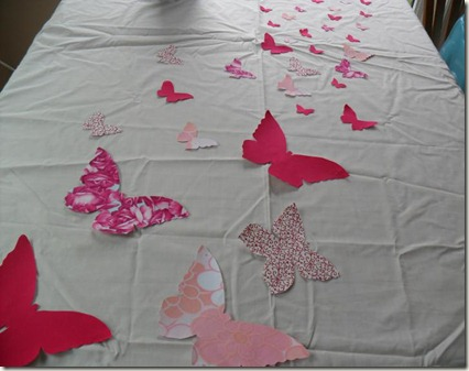 butterfly applique quilt layout