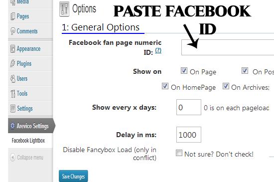 paste fb id