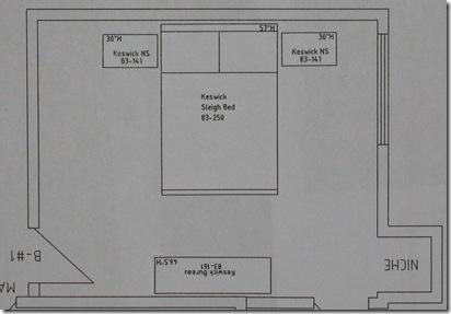 Bedroom no 1 Keswick Collection