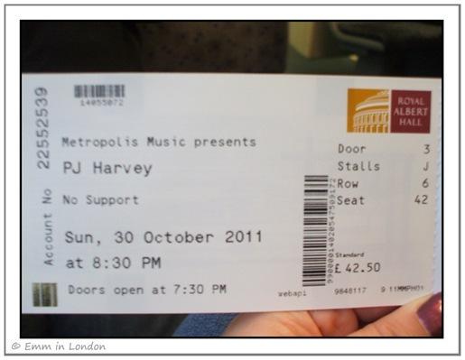 PJ Harvey Royal Albert Hall ticket