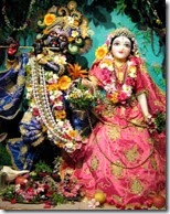 [deity worship of Radha and Krishna]