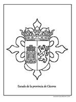provincia caceres escudo jugarycolorear 1 1