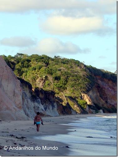 Andarilhos do Mundo na Praia do Carro Quebrado Alagoas