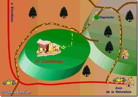 Croquis acceso al Castillarejo - Pinoso