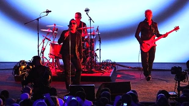 U2 en el Apple Live