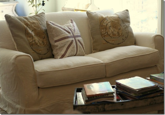 friday feature--slipcovered loveseat