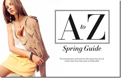 A to Z Spring Guide by Mangao