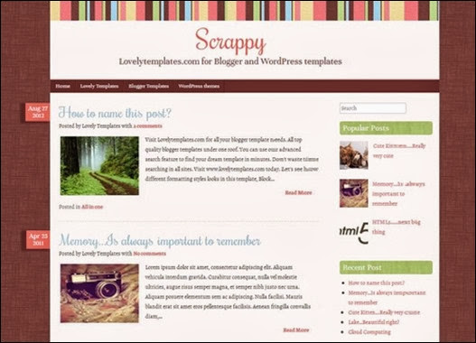 Scrappy Blogger Teması