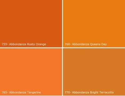 Abbondanza-oranje-swatches