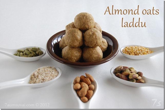Almond oats laddu
