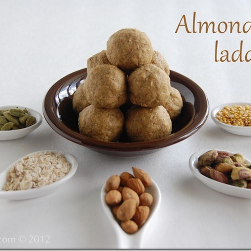 Almond oats laddu