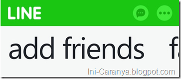 Cara Add Teman di Line