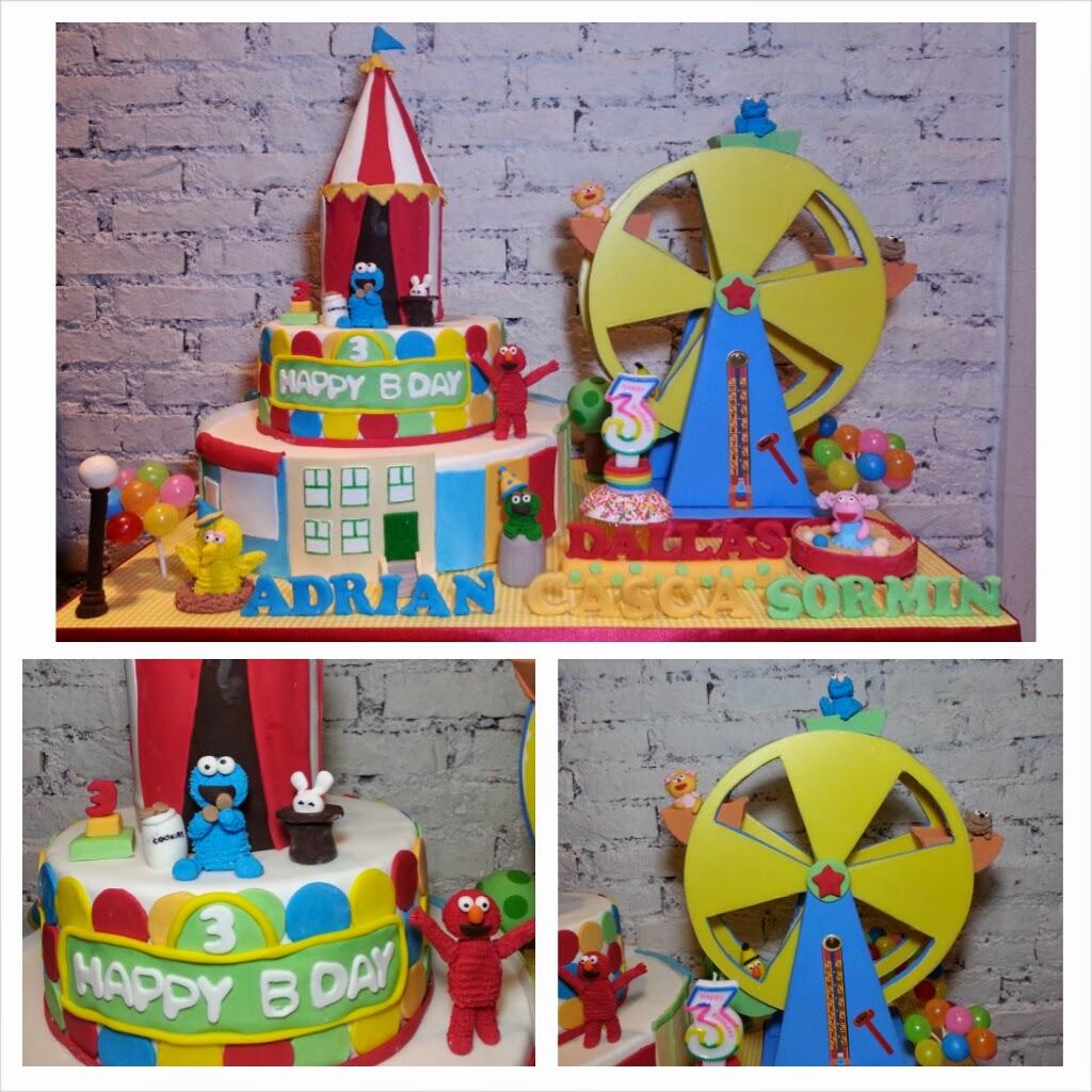 Spatula And Friends Sesame Street Cake