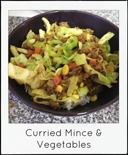 Curried mince and vegetables