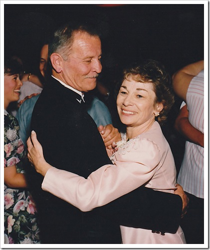 50th- dad & mom dancing