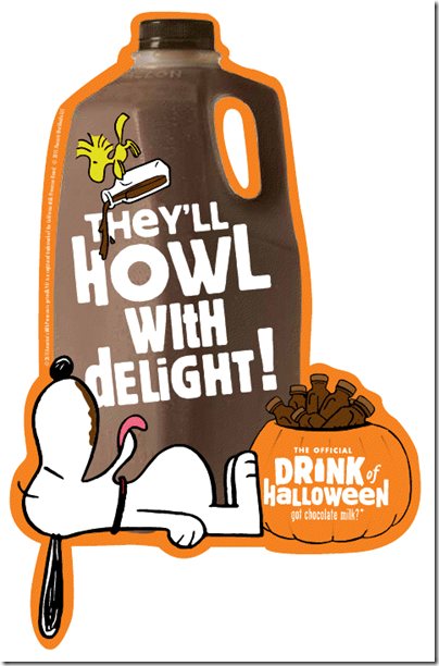 Peanuts Chocolate Milk Howl with Delight