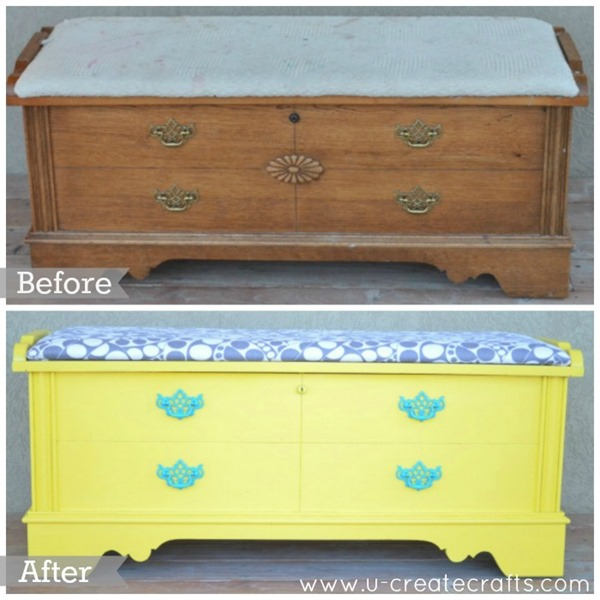 DIY Cedar Chest Makeover Before & After