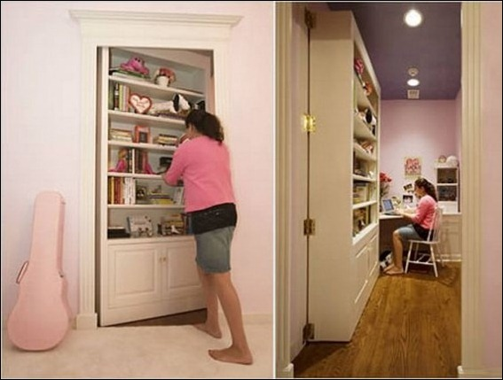 4. Bookcase Hidden Door