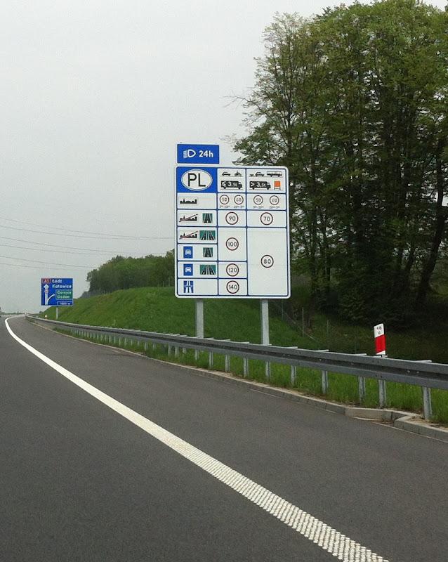 Информационный щитна границе Чехии с Польшей