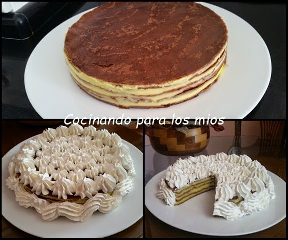 TARTA DE CREPES DE CHOCOLATE