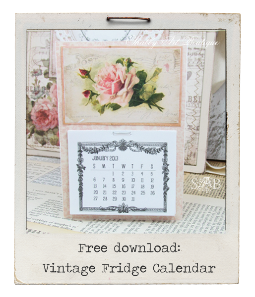 Shabby Art Boutique - Vintage Fridge Calendar download