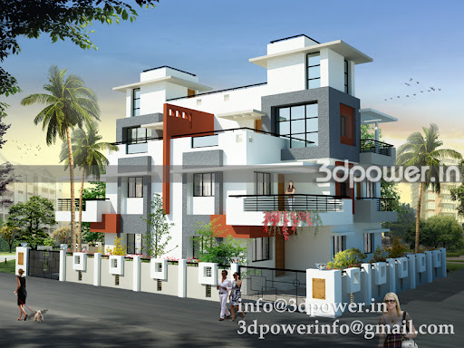This bungalow elevation is done in to masses. For more views visit our