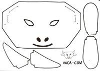 Vaca-Cow-máscara
